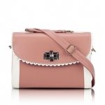 [Preorder] กระเป๋าสะพายข้างแฟชั่นเก๋ๆ สไตล์ Retro สี Red Oak (ชมพูอ่อนๆ) 2013 new handbag shoulder bag handbag Messenger bag handbags Korean sweet little fresh influx of women bags