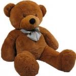 ตุ๊กตาหมียิ้มผูกโบว์ Teddy 1.2 เมตร สีน้ำตาลเข้ม ตุ๊กตาตัวใหญ่น่ารักน่ากอด