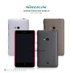 เคส Nokia Lumia 625 - Nillkin Super Shield Shell (ของแท้) + ฟิลม์กันรอย มีลายด้านหลัง กันลื่น ทำจากพลาสติกคุณภาพดีเคลือบ UV จับกระชับมือ เนื้อละเอียด