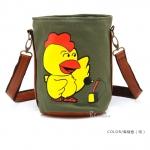 [Preorder] กระเป๋าสะพายข้างลายสัตว์ประจำปีนักษัตร ลายไก่ (ปีระกา) North bag 2013 Korean version of the original cartoon Zodiac constellation pattern leisure Shoulder Messenger bag