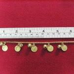 สินค้าจองค่ะ สร้อยข้อมือทองเหลือง+จี้รูปเหรียญเล็กค่ะ
