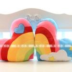 [Preorder] หมอนคู่หัวใจสุดเก๋สีสายรุ้ง (2 ใบ/แพ็ค) Korean rainbow love pillow / cushion / cushion / the sofa decoration / plush toys, Valentine's Day gifts