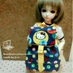"AprilBDMSD1 : กระเป๋า สำหรับ ตุ๊กตา 16 "" (MSD,AMT,NANCY doll 16 "")"" Pimwaradda's Craft """