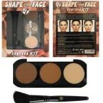 w7 shape your face contour kit เซ็ทคอนทัวร์ 3 สี ทั้งสำหรับคอนทัวร์ เฉดดิ้งหน้า 2 เฉดสี และไฮไลท์ 1 สี
