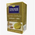 Supaporn สบู่ขัดผิว ไวท์เท็นนิ่ง สารสกัดมะขาม+มะเฟือง ปริมาณสุทธิ 100 กรัม