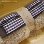 เซตผ้าขนสั้นสำหรับเย็บตุ๊กตาหมี - โทนสีน้ำตาลกลาง