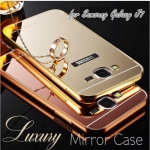 Luxury Mirror Cover with Bumper for Samsung Galaxy J7