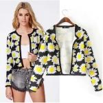 [Preorder] เสื้อสูทแฟชั่นแขนยาวลายดอกทานตะวัน แบรนด์ ASOS สีดำ (ไซส์ S M L) ASOS MICN 2014 Hitz European and American women Casual long-sleeved jacket women jacket sunflowers