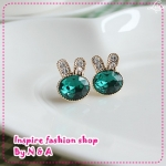 ตุ้มหูกระต่ายน้อย Korea retro, love ornaments discipline genuine cute rabbit earrings earrings female jewelry imitate allergy
