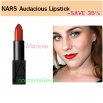 ลด35% เครื่องสำอาง NARS Audacious Lipstick สี Marlene (Red brick)ลิปนาร์สสูตรใหม่ limted SEMI - MATTE ให้ผลลัพธ์ที่แบบเรียบ-ติดทน-บำรุง-อวบอิ่ม