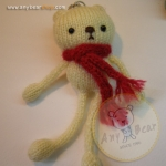 ตุ๊กตาหมีถักขนาด 12 cm. - Olive (white)