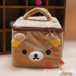กระเป๋าใส่เครื่องสำอางค์ ใบใหญ่ มีช่องแบ่ง ลาย Rilakkuma ริลัคคุมะ ขนาด 6x6x4นิ้ว (สั่งซื้อ3ใบ เหลือใบละ 250บาท)