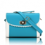 [Preorder] กระเป๋าสะพายข้างแฟชั่นเก๋ๆ สไตล์ Retro สี Blue (ฟ้า) 2013 new handbag shoulder bag handbag Messenger bag handbags Korean sweet little fresh influx of women bags