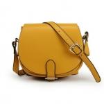 [Preorder] กระเป๋าแฟชั่นสะพายข้างใบเล็ก สีเหลืองมะม่วง Shoulder bag diagonal handbags retro ladies bag 2012 new wave hit color candy packet Korean Fashion Messenger