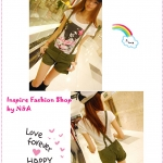 เอี๊ยมกางเกงขาสั้นสีเขียว 2012 summer new Korean version of the pants casual curling shorts Bib overalls shorts
