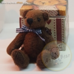 ตุ๊กตาหมีผ้าขนสีน้ำตาลเข้ม ขนาด 8 cm. - Getty