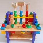Combine The Tool -เครื่องมือช่างไม้ ขนาดโต๊ะ เครื่องมือช่างไม้ 10*26 เซ็น / ความสูง 21 เซ็น / นำหนักรวม 1.10 กก. - ประกอบด้วย ตัวโต๊ะสามารถถอดประกอบได้ / มีอุปกรณ์ช่างที่ทำด้วยไม้ เป็นไขควง ค้อน คีม ไม้บรรทัด ตัวน๊อต หลายแบบ