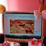 ที่รัดขอบจอ LCD/ Notebbok Hello Kitty Biscuit Version