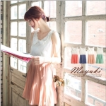 [Preorder] เดรสแฟชั่นแขนกุดกระโปรงพลีท สีชมพู Dimensional flower collar fine pleated chiffon dress
