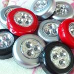 ไฟ LED 3 ดวง แบบกลม กดติด-กดดับ