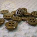 กระดุมขนาดเส้นผ่านศูนย์กลาง 12 mm. - coffee brown