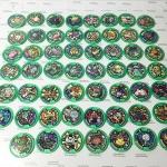 เหรียญ DX Yo-Kai Watch สีเขียว Set 55 เหรียญ ไม่ซ้ำแบบ มือสอง