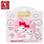 พร้อมส่งค่ะ Sanrio 40th anniversary magnet Kitty&Melody