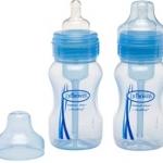 ขวดนมดร.บราวน์ Dr Brown's WIDE NECK 8oz สีฟ้า แพ็ค 2 ขวด BPA free