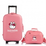[Preorder] กระเป๋าล้อลากกระต่ายน้อย พร้อมกระเป๋าสะพายข้าง สีชมพู (1 เซ็ต/2 ใบ) Beini Rabbit 2013 new cartoon cute boxes Trolley female luggage suitcase set