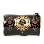 Anna Sui Glossy Cosmetic Case with Gold Trim
