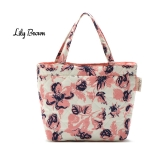 พร้อมส่งค่ะ Lily Brown quilted flower lunch bag น่ารักมากๆ