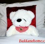 ตุ๊กตาหมีหลับ ตุ๊กตาหมีตัวเล็ก น่ารัก ขนาด 45 เซ็นติเมตร สีขาว