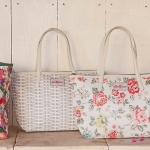 (Preorder) Cath kidston large leather trim tote