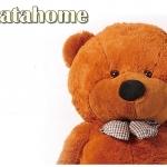 ตุ๊กตาหมียิ้มผูกโบว์ Teddy 2 เมตร สีน้ำตาลเข้ม ตุ๊กตาตัวใหญ่น่ารักน่ากอด