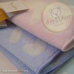 ผ้าเช็ดหน้าลายหมี size S ( ชมพู,ฟ้า )