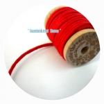 LC3 : เชือกหนัง-สีแดงสด ราคาต่อ 1 m คร้า