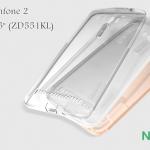 """เคสยางนิ่ม บางเฉียบ Asus Zenfone 2 Selfie 5.5"""" (ZD551KL) ยี่ห้อ Nillkin Nature TPU Case"""