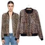 [Preorder] เสื้อแจ๊กเก็ตแขนยาวลายเสือดาว (ไซส์ S M L) European style 2014 new winter fashion wild leopard print jacket casual jacket Slim was thin women