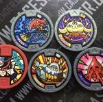 เหรียญ DX Yo-Kai Watch Set 5 เหรียญ ไม่ซ้ำแบบ