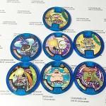 เหรียญ DX Yo-Kai Watch สีน้ำเงิน Set 7 เหรียญ ไม่ซ้ำแบบ มือสอง