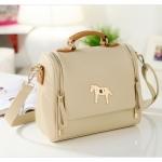[Preorder] กระเป๋าแฟชั่นสะพายข้างสไตล์ retro สี Apricot 2013 new Korean candy colored retro pony female Shoulder Messenger bag tide