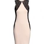 ♥♥พร้อมส่งค่ะ♥♥ H&M Lace Dress Powder pink  ชุดเดรสแขนกุดแต่งผ้าลูกไม้ช่วงหัวไหล่ไล่ลงมาข้างลำตัว หรูหรา ไฮโซ