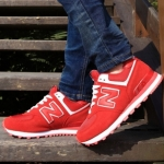 [Preorder] รองเท้าผ้าใบ N สีแดง Korean wild shoes running shoes breathable couple N Aberdeen male Korean fashion sneakers shoes singles shoes N word