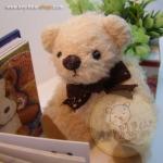 ตุ๊กตาหมีผ้าขนสีครีมขนาด 12 cm. - Bess