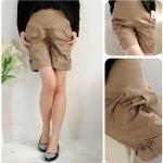 กางเกงขาสั้นคลุมท้อง กางเกงสำหรับคนอ้วน สีกากี