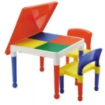 Tot Tutors Kids Building Table FOR Lego, Mega Blocks + 2 Chairs สุดคุ้มเป็นโต๊ะอเนกประสงค์ พร้อมเก้าอี้ 2 ตัว คลิ๊กดูภาพด้านในค่ะ