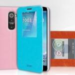 เคสหนังฝาพับ LG G2 - D802 ยี่ห้อ MOFi View Flip Cover