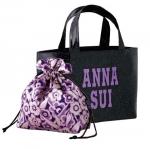 กระเป๋า ANNA SUI GLITTER PVC TOTE BAG + DRAW STRING POUCH