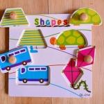 QL-014 SHAPE แบบที่ 1 #ของเล่นไม้# ของเล่นไม้เด็กเล็ก# ของเล่นไม้ 1 ขวบขึ้นไป# ฝึกการหยิบจับ ความคิด ภาพเหมือน ในการเรียบเรียง รูปทรง