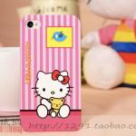 เคสแข็งสำหรับ iphone4/4s ลาย Kitty เนื้อดึ